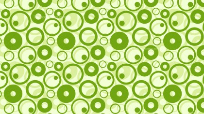 Green Geometric Circle Pattern Background