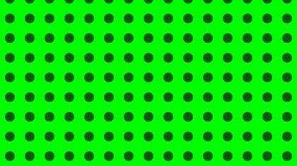 Green Seamless Circle Pattern Design
