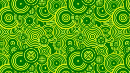Green Seamless Overlapping Concentric Circles Pattern Background Image