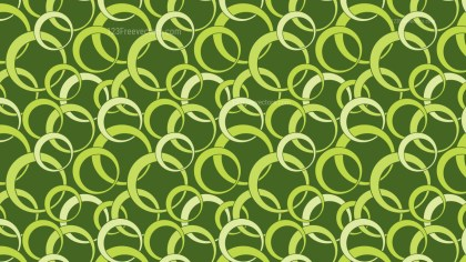 Green Overlapping Circles Background Pattern Design