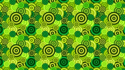Green Overlapping Concentric Circles Pattern Background
