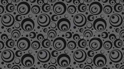 Black Seamless Circle Background Pattern Vector
