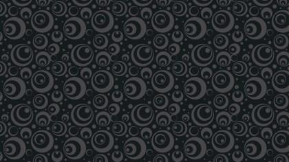Black Seamless Geometric Circle Pattern Vector Art