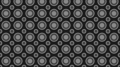 Black Seamless Geometric Circle Background Pattern Illustration