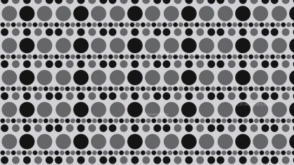 Black and Grey Seamless Circle Pattern Background Illustration