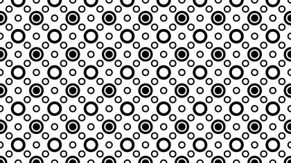 Black and White Seamless Geometric Circle Background Pattern Vector Art