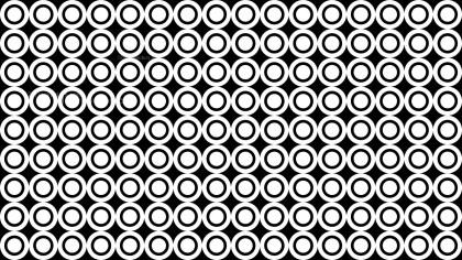Black and White Seamless Geometric Circle Background Pattern