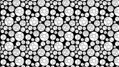 Black and White Seamless Geometric Circle Pattern Illustration