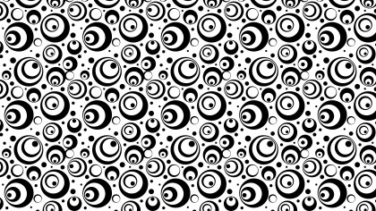 Black and White Seamless Geometric Circle Background Pattern Image