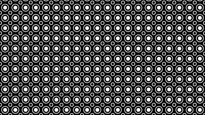 Black and White Geometric Circle Pattern