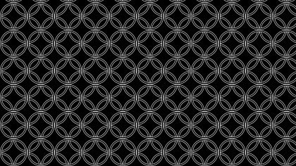 Black and White Overlapping Circles Pattern Background