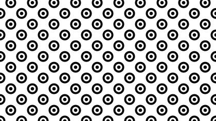 Black and White Geometric Circle Pattern Vector Art