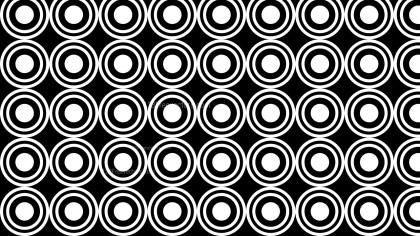 Black and White Seamless Geometric Circle Pattern Vector Image
