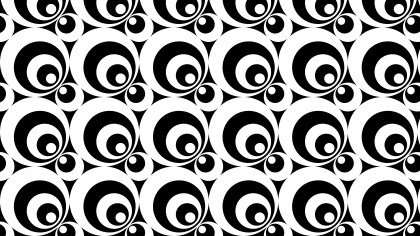 Black and White Geometric Circle Pattern