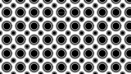 Black and White Geometric Circle Pattern Background