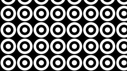 Black and White Seamless Circle Background Pattern