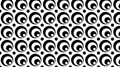 Black and White Circle Background Pattern Design