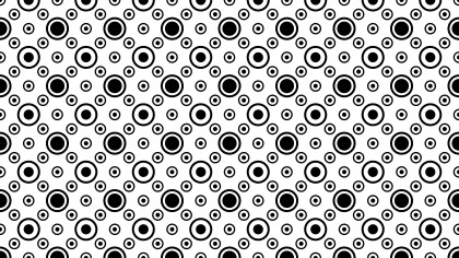 Black and White Seamless Circle Pattern Illustrator