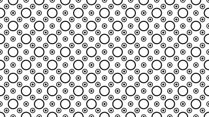 Black and White Geometric Circle Background Pattern
