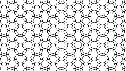 Black and White Seamless Circle Pattern Background Illustration