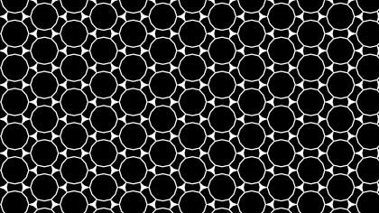 Black and White Seamless Circle Background Pattern Design