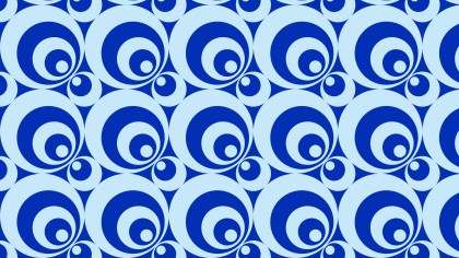 Blue Seamless Circle Background Pattern Illustrator
