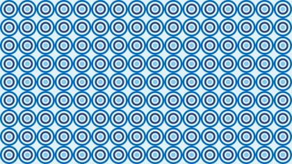 Blue Seamless Geometric Circle Pattern Vector Illustration