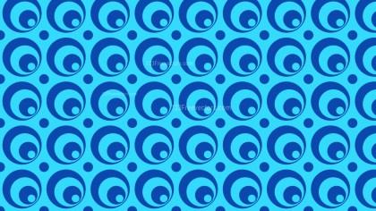 Blue Seamless Circle Pattern Vector