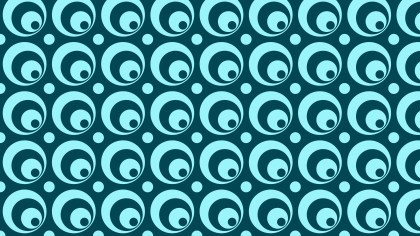 Blue Seamless Circle Pattern Background Vector Art