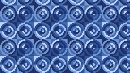 Blue Seamless Quarter Circles Background Pattern Vector Illustration