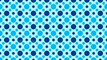 Blue Seamless Circle Pattern Illustrator