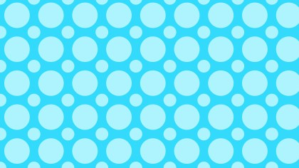 Baby Blue Geometric Circle Background Pattern