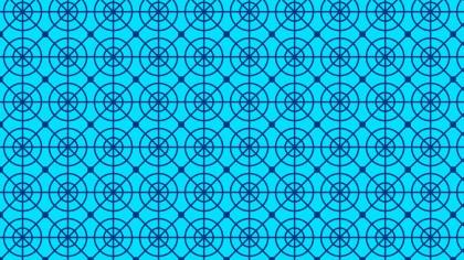 Blue Seamless Circle Pattern Background Image
