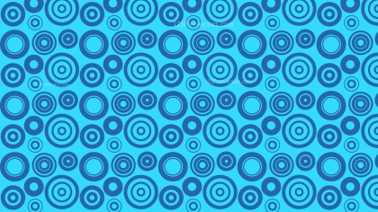 Blue Geometric Circle Pattern Background