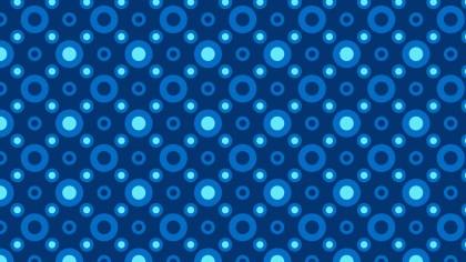 Dark Blue Seamless Geometric Circle Pattern Vector Art