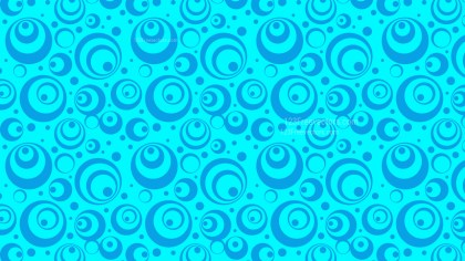 Cyan Geometric Circle Background Pattern