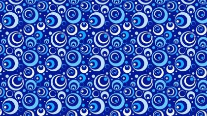 Cobalt Blue Seamless Geometric Circle Pattern Background