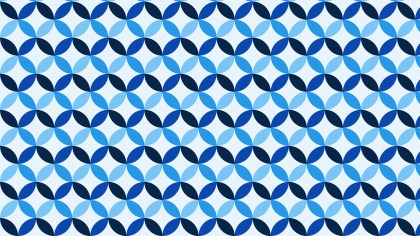 Blue Seamless Overlapping Circles Pattern Background Graphic