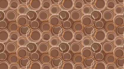 Brown Circle Pattern Background Vector Illustration