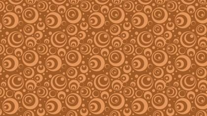 Brown Seamless Circle Background Pattern
