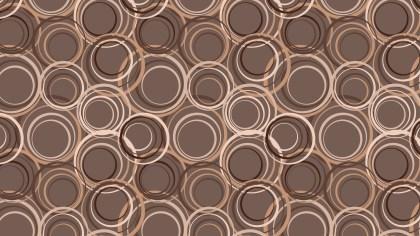 Brown Seamless Circle Pattern Illustrator