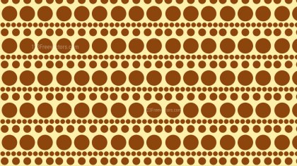 Brown Seamless Circle Pattern Background