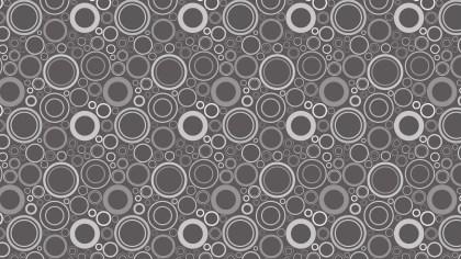 Dark Grey Seamless Circle Pattern Background
