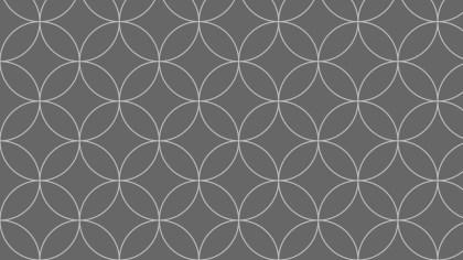 Dark Grey Seamless Overlapping Circles Pattern Background