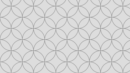 Light Grey Seamless Overlapping Circles Pattern Background Vector