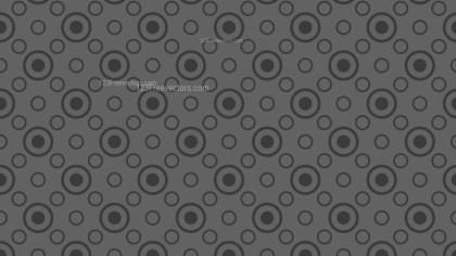 Dark Grey Geometric Circle Background Pattern Vector Image