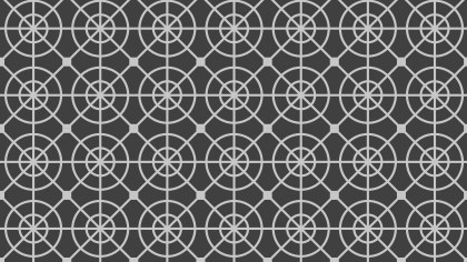 Dark Grey Seamless Circle Pattern Vector Graphic