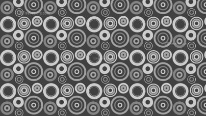 Dark Grey Circle Pattern