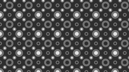 Dark Grey Geometric Circle Background Pattern Vector Illustration
