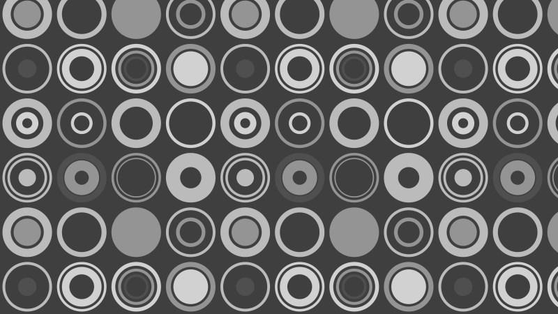 Dark Grey Seamless Geometric Circle Pattern Background